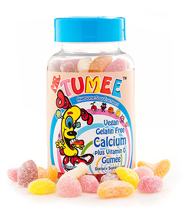 Mr. Tumee™Vegan Gelatin Free Calcium Plus Vitamin D Gumee